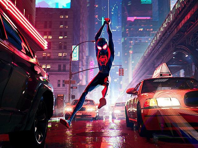 Shameik Moore in Spider-Man: Into the Spider-Verse (2018) Titles: Spider-Man: Into the Spider-Verse People: Shameik Moore Photo by Sony Pictures Animation - © Â2018 CTMG, Inc. All Rights Reserved. **ALL IMAGES ARE PROPERTY OF SONY PICTURES ENTERTAINMENT INC. FOR PROMOTIONAL USE ONLY.