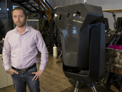 Product manager Asaf Lebovitz from the Israeli anti-drone company Skylock, explains their system's main unit at the company's offices in Petah Tikvah, Israel, Tuesday, Dec. 25, 2018. The Israeli technology company said Tuesday that business is booming after the chaos that erupted at Gatwick Airport last week, wreaked by rogue …
