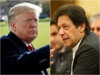 U.S. President Donald Trump and Pakistan Prime Minister Imran Khan