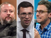 Shane Smith of Vice, Ezra Klein of Vox, and Jonah Peretti of BuzzFeed.