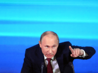 Russia's President Vladimir Putin holds the first major press conference of his third term in power in Moscow, on December 20, 2012. Putin denied todayplaying a role in the surprise reduction in the jail sentence of former oil tycoon and opposition leader Mikhail Khodorkovsky. AFP PHOTO / NATALIA KOLESNIKOVA (Photo …