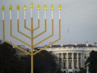 Every year, the White House lights a giant menorah -- seen here in 2015 -- during Hanukkah