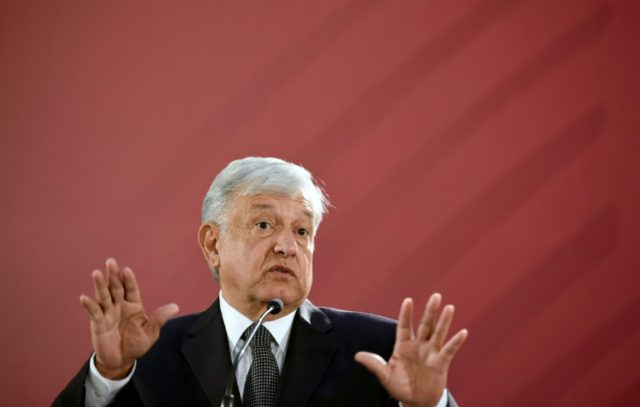 Mexico's Andres Manuel Lopez Obrador at his first news conference as president