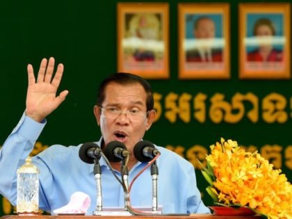 Cambodia's Prime Minister Hun Sen, pictured here in August, has been in power for 33 years using a mix of wily political gambits and networks of alliances in the army and police