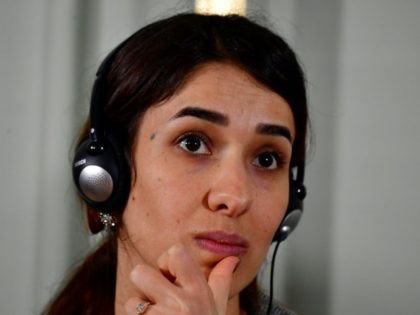 Nobel Peace Prize laureate Yazidi activist Nadia Murad who was taken hostage by the Islamic State group in 2014 but escaped, is the first Iraqi to receive the prestigious award