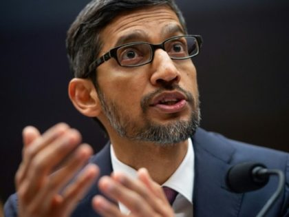 "Google CEO Sundar Pichai, testifying at a House Judiciary Committee hearing, said there is no ""political bias"" in its search results"
