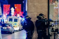A manhunt was underway after the killer opened fire at around 8pm local time (1900 GMT) on one of the city's busiest streets, sending crowds of evening shoppers fleeing for safety