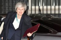 Britain's Prime Minister Theresa May faces a no-confidence vote by lawmakers in her party