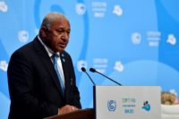 Frank Bainimarama, Prime Minister of Fiji and President of the COP23, said nations who ignored climate science were endangering the entire world