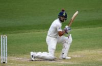 India's captain Virat Kohli looked comfortable from the time he strode to the crease, steadying his side after a terrible start to their first innings