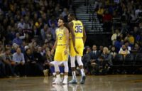 Stephen Curry and Kevin Durant combined for 68 points as the Golden State Warriors beat the Sacramento Kings 130-125