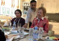 A handout image provided by United Arab Emirates News Agency (WAM) on December 24, 2018 shows Sheikha Latifa bint Mohammed bin Rashid Al-Maktoum (L) with Mary Robinson, former President of Ireland