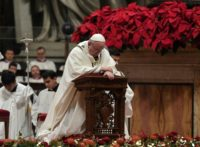 Thousands attended mass at the Vatican's Saint Peter's Basilica, where Pope Francis, the head of the world's 1.3 billion Catholics, offered his Christmas homily