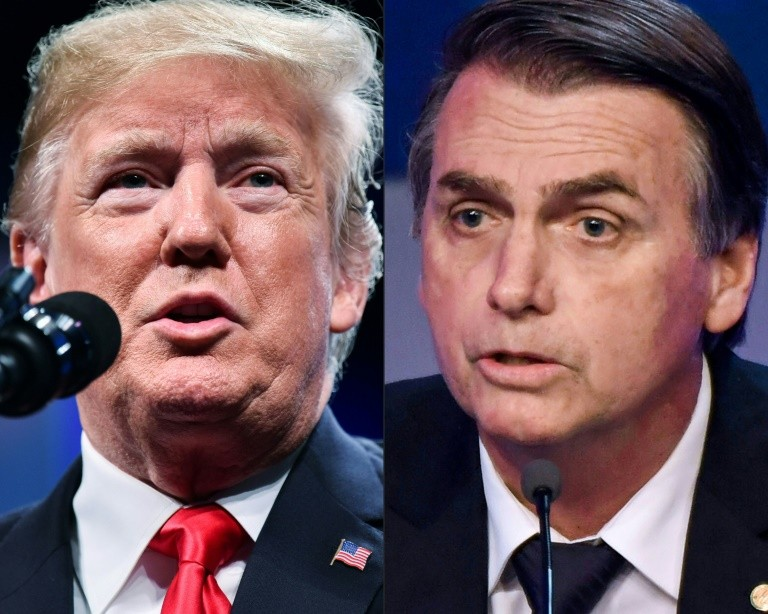 US President Donald Trump sees a strong ally in right-wing Brazilian President-elect Jair Bolsonaro