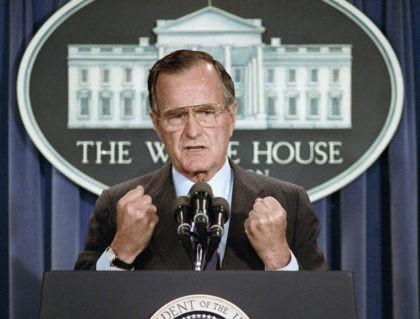 The Latest: Dan Quayle praises George H.W. Bush