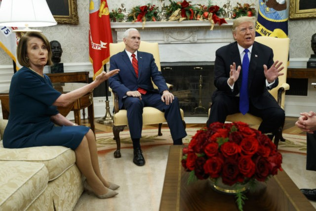 Donald Trump, Nancy Pelosi, Mike Pence