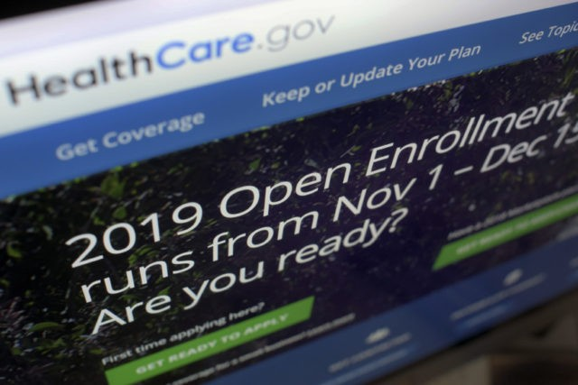 This Oct. 23, 2018 file photo shows HealthCare.gov website on a computer screen in New York. A federal judge's ruling that the Obama health law is unconstitutional has landed like a stink bomb among Republicans, who've seen the politics of health care flip as Americans increasingly value the overhaul's core …