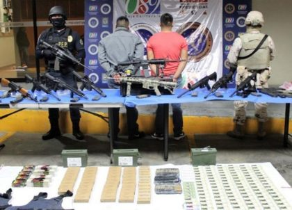 Two Sinaloa Cartel Smugglers Caught near U.S. with Weapons Cache