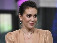 "Actress Alyssa Milano participates in the BUILD Speaker Series to discuss the new Netflix original series ""Insatiable"" at AOL Studios on Tuesday, Aug. 7, 2018, in New York. (Photo by Evan Agostini/Invision/AP)"