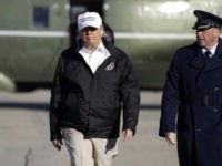 President Donald Trump walks to board Air Force One for a trip to the southern border, Thursday, Jan. 10, 2019, in Andrews Air Force Base, Md. (AP Photo/ Evan Vucci)