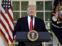 President Donald Trump speaks in the Rose Garden of the White House, Friday, Jan 25, 2019, in Washington. (AP Photo/Evan Vucci)