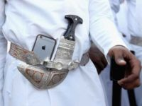 An Arab man's iPhone
