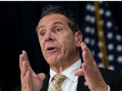 NEW YORK, NY - NOVEMBER 13: New York Governor Andrew Cuomo speaks during a press conference.