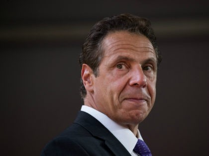 New York Governor Andrew Cuomo pauses while he delivers remarks during a dedication ceremony to mark the opening of the new campus of Cornell Tech on Roosevelt Island, September 13, 2017 in New York City. Seven years ago, former New York City Mayor Michael Bloomberg created a competition that invited …