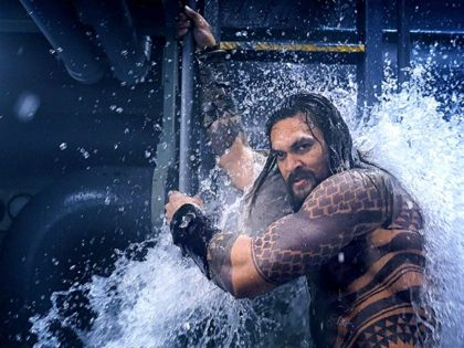 Jason Momoa in Aquaman (2018) Titles: Aquaman People: Jason Momoa © 2017 Warner Bros. Entertainment Inc. and Ratpac-Dune Entertainment LLC. All Rights Reserved.