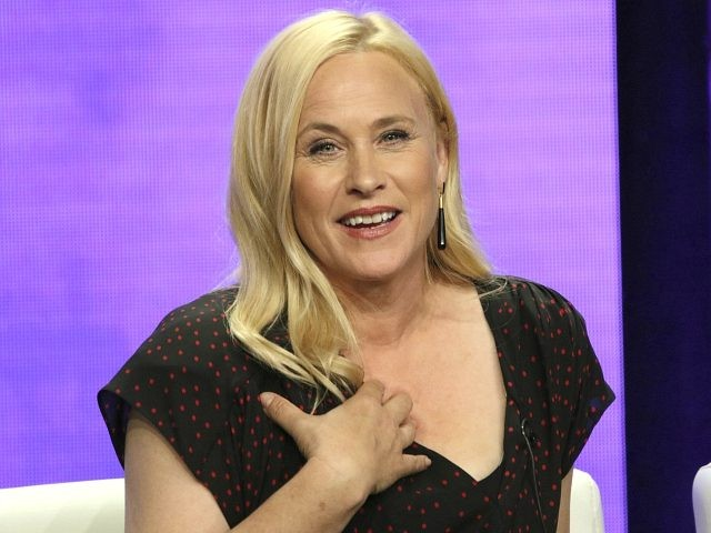 "CORRECTS DATE TO MONDAY, AUG. 6 - Patricia Arquette participates in the ""Escape at Dannemora"" panel during the Showtime Television Critics Association Summer Press Tour at The Beverly Hilton hotel on Monday, Aug. 6, 2018, in Beverly Hills, Calif. (Photo by Willy Sanjuan/Invision/AP)"