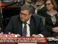 Barr: Wouldn't Follow an Order to Fire Mueller Without Good Cause