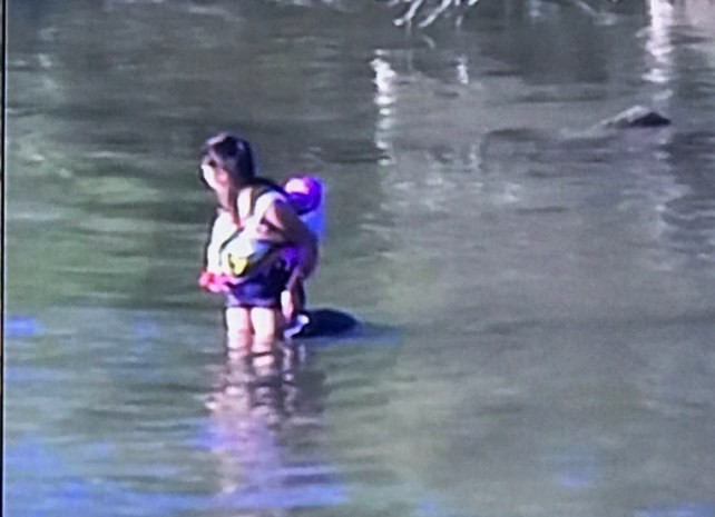 Border Patrol agents find woman and 10-month-old child stranded in Rio Grande River. (Photo: U.S. Border Patrol/Laredo Sector)
