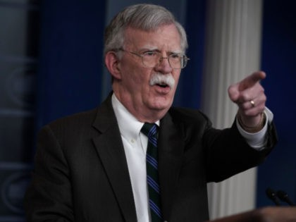 National Security Adviser John Bolton speaks during a news briefing at the James Brady Press Briefing Room of the White House November 27, 2018 in Washington, DC. Bolton spoke on President Donald Trump's upcoming trip to Argentina to attend the Group of 20 summit later this week. (Photo by Alex …