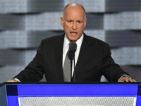 California Governor Jerry Brown addresses speaks at the Democratic National Convention at the Wells Fargo Center in Philadelphia on July 27, 2016. File Photo by Pat Benic/UPI