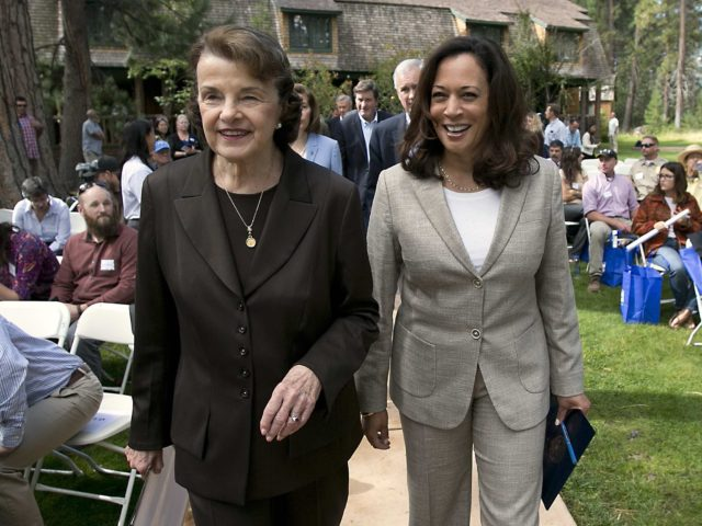 Dianne Feinstein and Kamala Harris (Rich Pedroncelli / Associated Press)