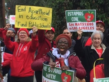 LAUSD teachers' strike (Joel Pollak / Breitbart News)