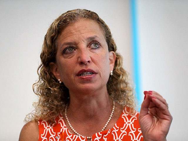 SUNRISE, FL - AUGUST 16: Rep. Debbie Wasserman Schultz (D-FL) speaks during a press conference, held at the Sunrise Police Department, asking the federal government to ban 3D printed gun on August 16, 2018 in Sunrise, Florida. A nationwide restraining order may be lifted on August 28th, if lifted it …