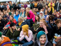 Women attend the Statement Festival at Bananpiren in Gothenburg, Sweden, on August 31, 2018. - Held in Sweden's second-largest city of Gothenburg, the two-day Statement Festival, forbids men but not transgender people. It was announced last year after police received four rape and 23 sexual assault reports at Sweden's largest …