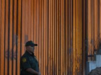 Border Patrol officers keep watch before US Department of Homeland Security Secretary Kirstjen M. Nielsen inaugurates the first completed section of President Trumps 30-foot border wall in the El Centro Sector, at the US Mexico border in Calexico, California on October 26, 2018. (Photo by Mark RALSTON / AFP) (Photo …