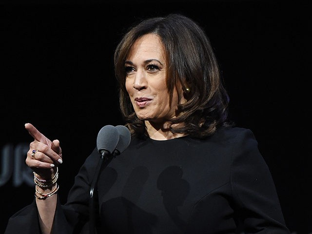 NEW YORK NY- NOVEMBER 12 Kamala Harris speaks onstage at the 2018 Glamour Women Of The Year Awards Women Rise