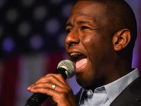 ORLANDO, FLORIDA - NOVEMBER 03: Florida Democratic gubernatorial candidate Andrew Gillum speaks at a campaign rally in the CFE arena on November 3, 2018 in Orlando, Florida. Gillum, the mayor of Tallahassee, is running against Republican candidate Ron DeSantis. (Photo by Jeff J Mitchell/Getty Images)