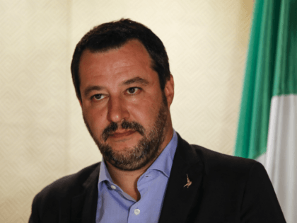 Italys far-right Interior Minister and deputy PM Matteo Salvini is seen at a hotel in Jerusalem on December 11, 2018. (Photo by Ahmad GHARABLI / AFP) (Photo credit should read AHMAD GHARABLI/AFP/Getty Images)