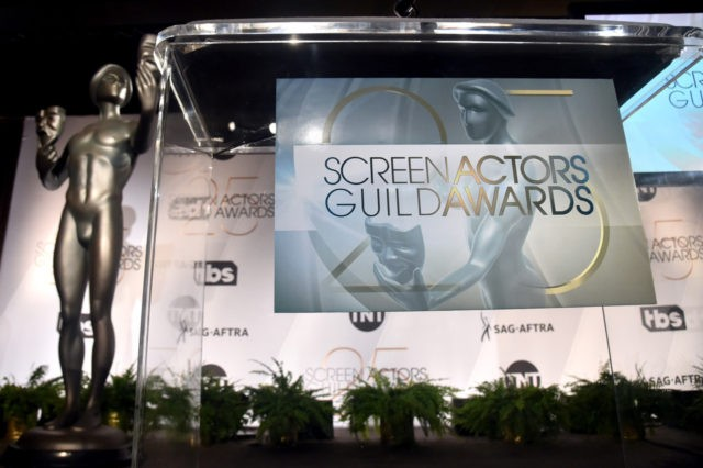 WEST HOLLYWOOD, CA - DECEMBER 12: A view of stage during the 25th Annual Screen Actors Guild Awards Nominations Announcement at Pacific Design Center on December 12, 2018 in West Hollywood, California. (Photo by Alberto E. Rodriguez/Getty Images)