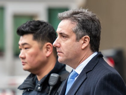 US President Donald Trumps former attorney Michael Cohen leaves US Federal Court in New York on December 12, 2018 after his sentencing after pleading guilty to tax evasion, making false statements to a financial institution, illegal campaign contributions, and making false statements to Congress. - US President Donald Trump's former …