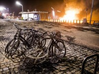 Destroyed bicycles are pictured after a New Years Eve beach bonfire went out of control in Scheveningen a coastal resort near the Hague on January 1, 2019. (Photo by Bart Maat / ANP / AFP) / Netherlands OUT (Photo credit should read BART MAAT/AFP/Getty Images)