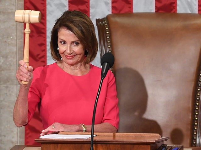Incoming House Speaker Nancy Pelosi, D-CA, holds the gavel during the opening session of the 116th Congress at the US Capitol in Washington, DC, January 3, 2019. - Veteran Democratic lawmaker Nancy Pelosi was elected speaker of the House Thursday for the second time in her political career, a striking …