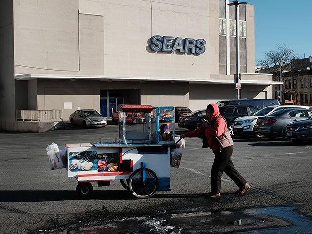 NEW YORK, NEW YORK - JANUARY 07: A Sears department store stands in Brooklyn on January 07, 2019 in New York City. If the bankrupt retail chain does not accept the only bid to save it, it could be forced to start the process of shutting down as soon as …