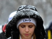 Pro-life activists protest in front of the White House on January 21, 2014 in Washington, DC. Pro-life activists gather each year to protest on the anniversary of the Roe v. Wade Supreme Court decision that legalized abortion. AFP PHOTO/Jewel SAMAD (Photo credit should read JEWEL SAMAD/AFP/Getty Images)