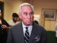 CORAL GABLES, FL - MAY 22: Roger Stone, a longtime political adviser and friend to President Donald Trump, speaks during a visit to the Women's Republican Club of Miami, Federated before signing copies of his book 'The Making of the President 2016' at the John Martin's Irish Pub and Restaurant …