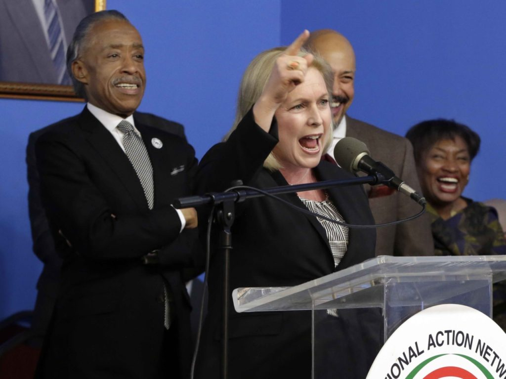 Gillibrand Shaprton (Richard Drew / Associated Press)